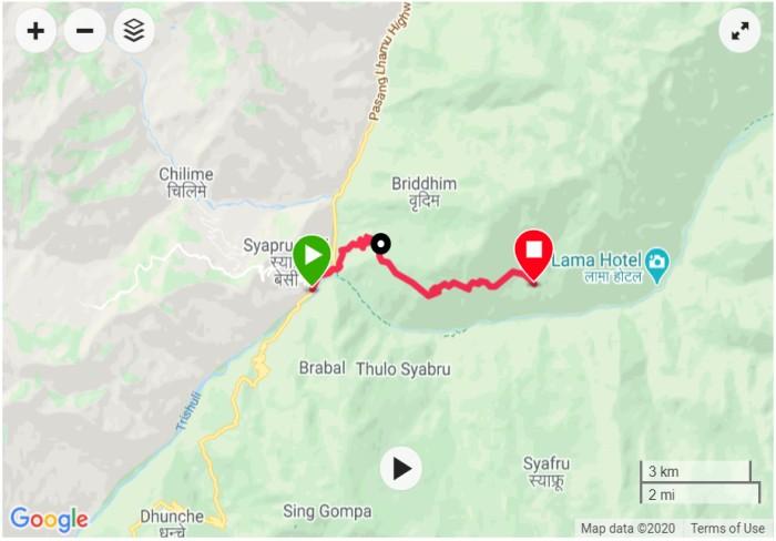 Syabrubesi-to-Lama-hotel-langtang-trek
