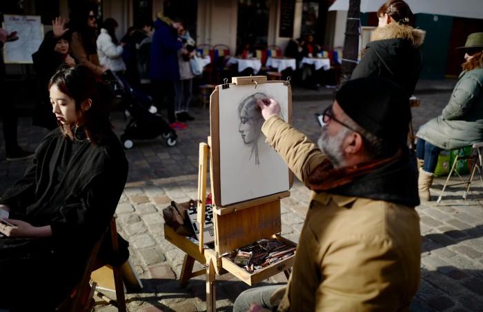 4-días-itinerario-en-paris-artista-montmartre